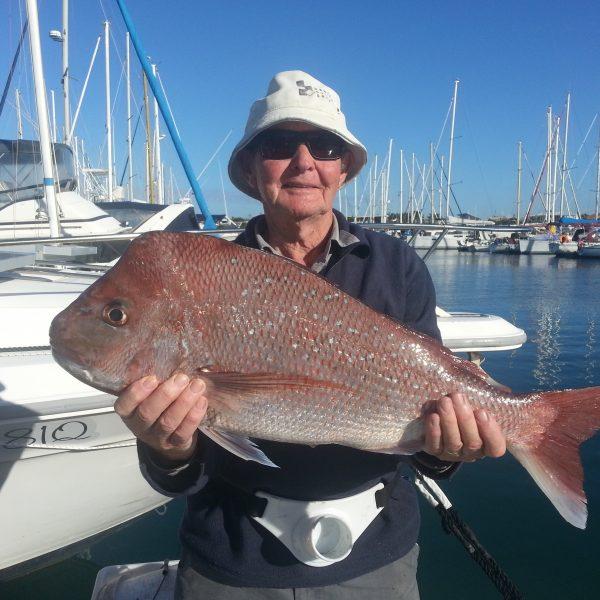 Large Snapper caught off Mooloolaba on the Sunshine Coast
