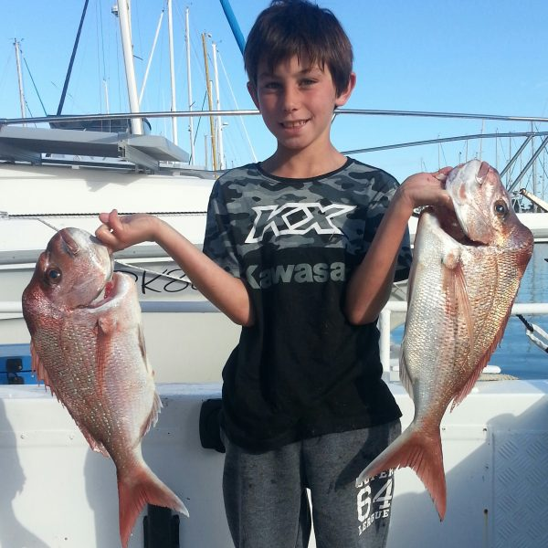 Catching the snapper off Mooloolaba on the Sunshine Coast