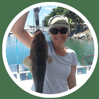 Flathead caught on a charter off the Sunshine Coast